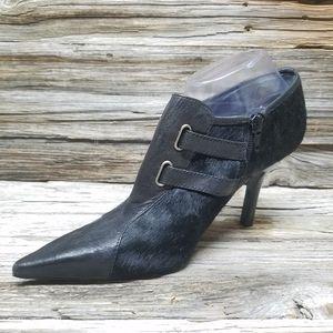Nine West Bela Leather Calf Hair Heels